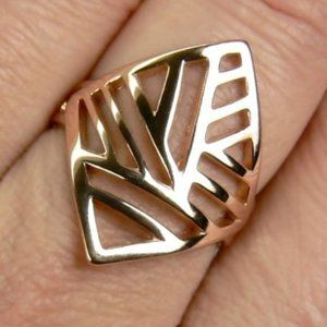 STYLISH 18K rose Gold over Sterling SILVER Ring